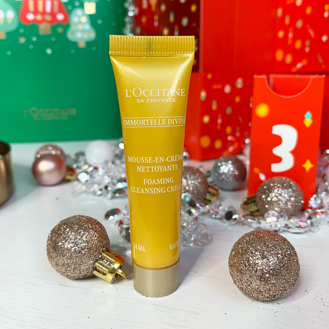 Immortelle Divine Foaming Cleansing Cream - L'Occitane Beauty Advent Calendar 2019 Review - Miss Boux