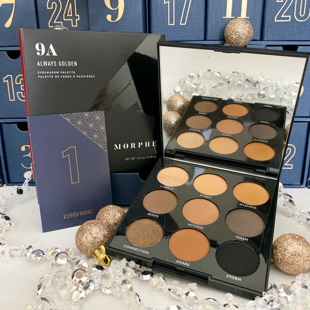 Morphe 9A Palette Always Golden - Look Fantastic Beauty Advent Calendar 2019 - Miss Boux