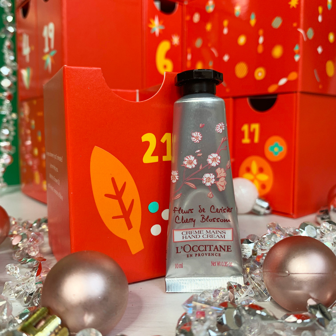 Cherry Blosom Hand Cream - L'Occitane Beauty Advent Calendar 2019 Review - Miss Boux