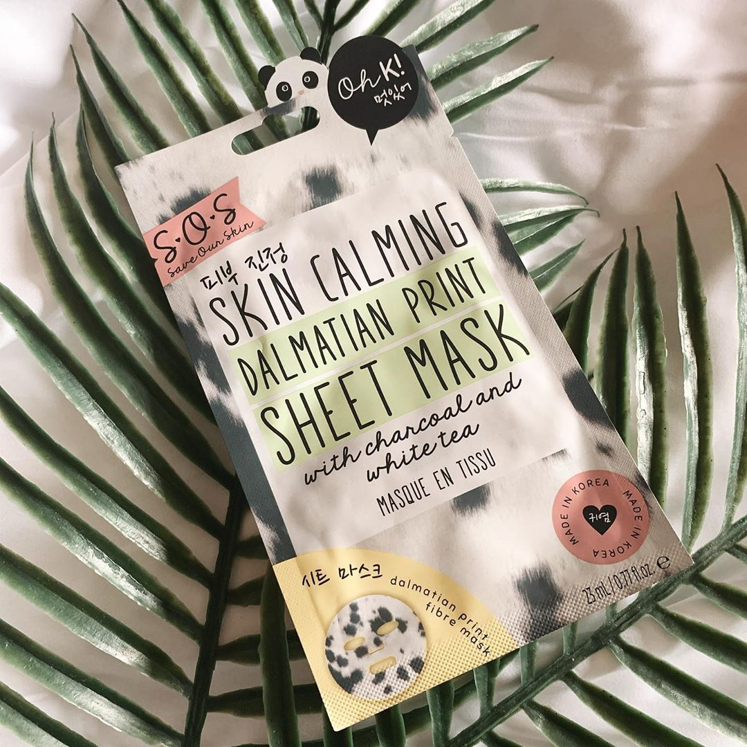 Oh K SOS Printed Sheet Mask - Wild Thing Glossybox Review May 2020