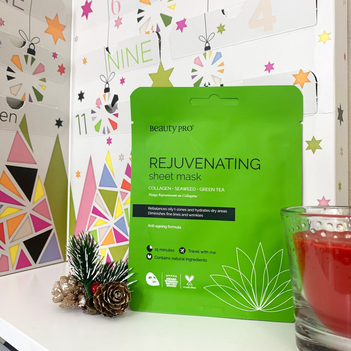 Rejuvenating Sheet Mask  Beauty Pro 12 Days of Christmask Advent Calendar 2020 - Miss Boux