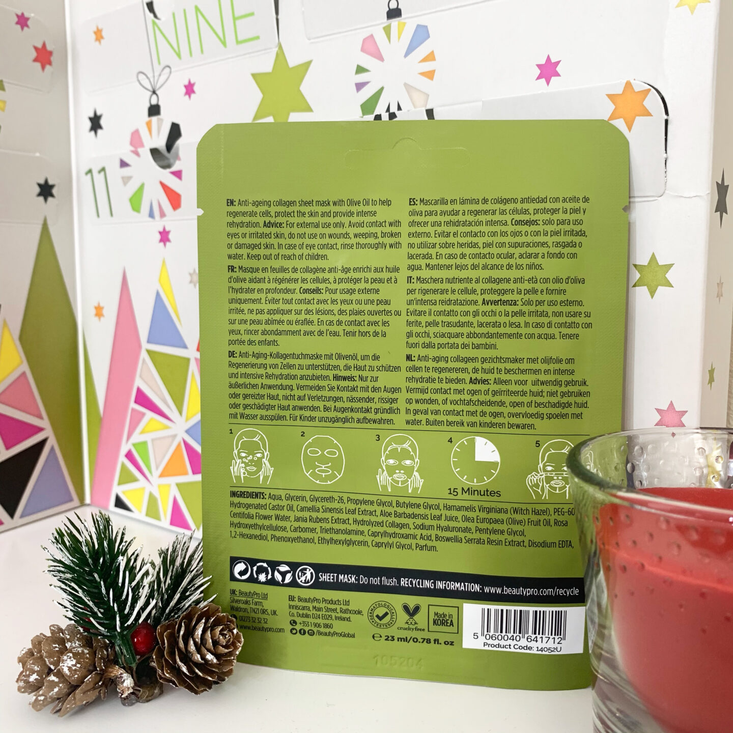 Nourishing Sheet Mask  Beauty Pro 12 Days of Christmask Advent Calendar 2020 - Miss Boux